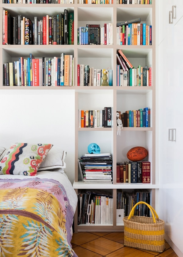 17 Bookshelves That Double As Headboards (View 1 of 15)