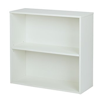2 Shelf Bookcases Within Most Current Amazon: Office Star Prado 2 Shelf Bookcase, White Laminate (View 2 of 15)