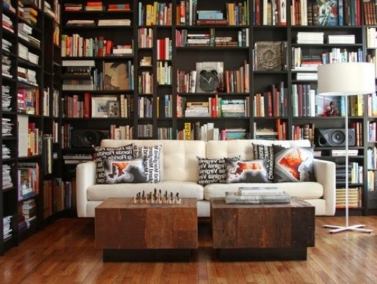 20 Wonderful Home Library Ideas Regarding Fashionable Library Wall Bookshelves (View 1 of 15)