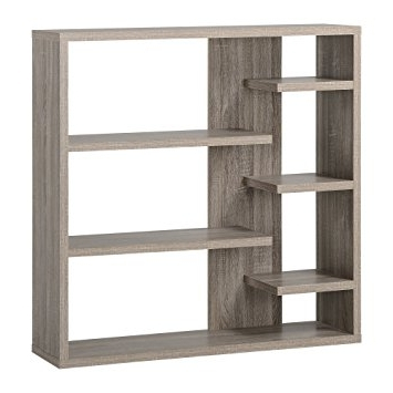 2017 6 Shelf Bookcases Intended For Amazon: Homestar 6 Shelf Storage Bookcase In Reclaimed Wood (View 1 of 15)