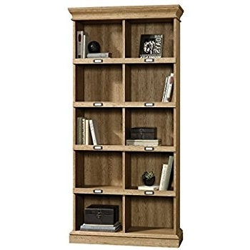 2017 Amazon: Sauder 414725 Scribed Oak Finish Barrister Lane Pertaining To Barrister Lane Bookcases (View 4 of 15)