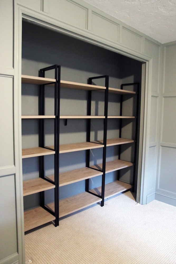 2017 Bedroom Bookcases Intended For Using Bookcases In A Bedroom Closet – Chris Loves Julia (View 3 of 15)