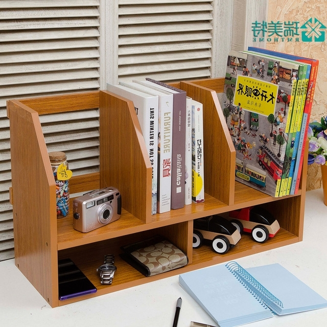 2017 Desktop Bookcases With Regard To Creative Simple Rui Us Special Small Desktop Bookshelf Desk Small (View 1 of 15)
