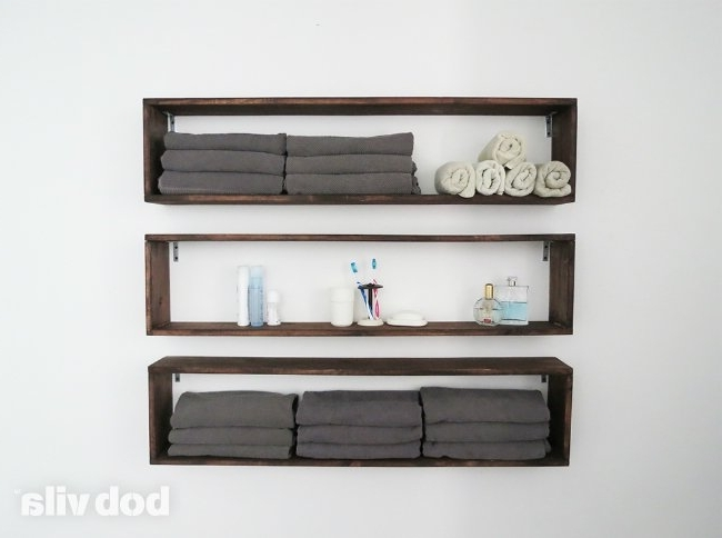 2017 Diy Wall Shelves In The Bathroom – Tutorial – Bob Vila Throughout Wall Shelves (View 1 of 15)