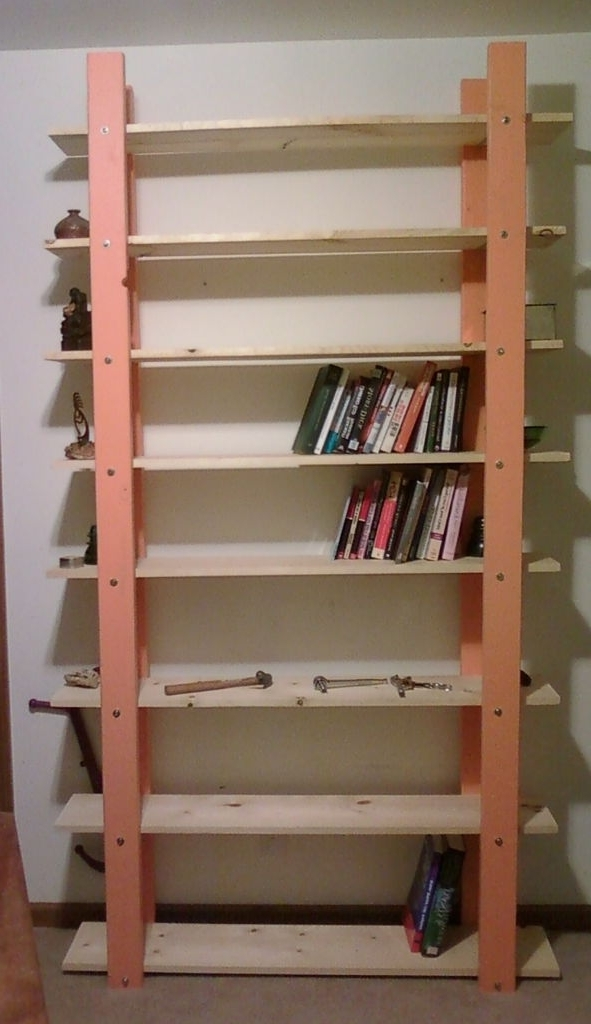 2017 Free Bookcase Plans : Popular Green Free Bookcase Plans Regarding Large Bookcases Plans (View 1 of 15)