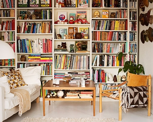 2017 Full Wall Bookshelves Intended For Sneak Peek Anders Arhoj Designsponge Full Wall Bookshelves (View 1 of 15)