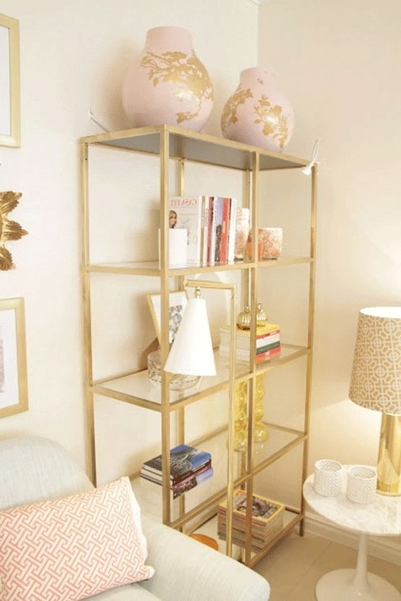 2017 Gold Bookcases With Regard To 34 Best Book Cases / Etageres Images On Pinterest (View 1 of 15)