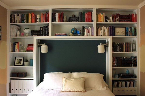 2017 Guest Bedroom Headboard And Bookshelves – Great Idea To Inside Bookcases Headboard (View 2 of 15)