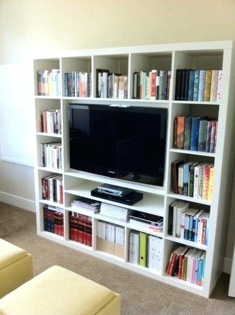 2017 Ikea Tv Bookcase Best Entertainment Center Ideas On Wall Unit Inside Tv Book Shelf (View 1 of 15)