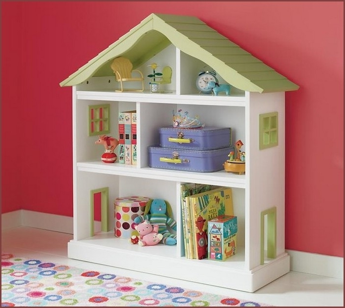 2017 Kidkraft Bookcases Regarding Kidkraft Dollhouse Bookcase  (View 1 of 15)