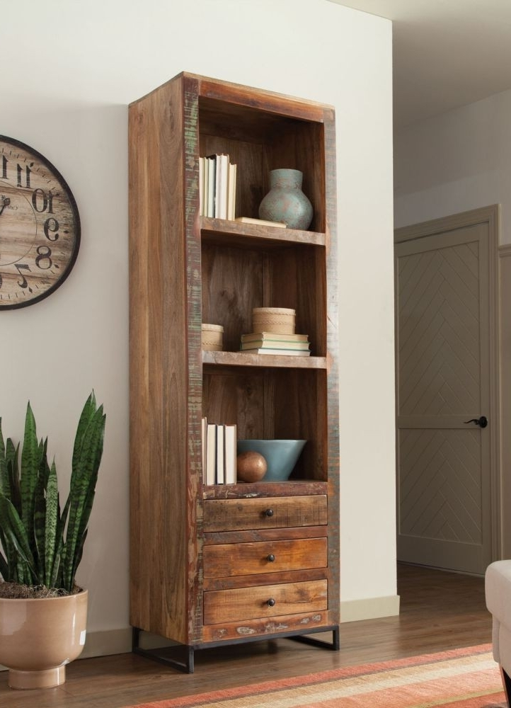 2017 Reclaimed Wood Bookcases Intended For Reclaimed Wood Bookcase – Top Drawer Furniture (View 8 of 15)