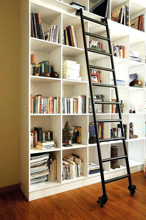 2017 Rolling Ladders For Bookshelves Bookshelves Library With A Sliding For Sliding Library Ladder (View 1 of 15)