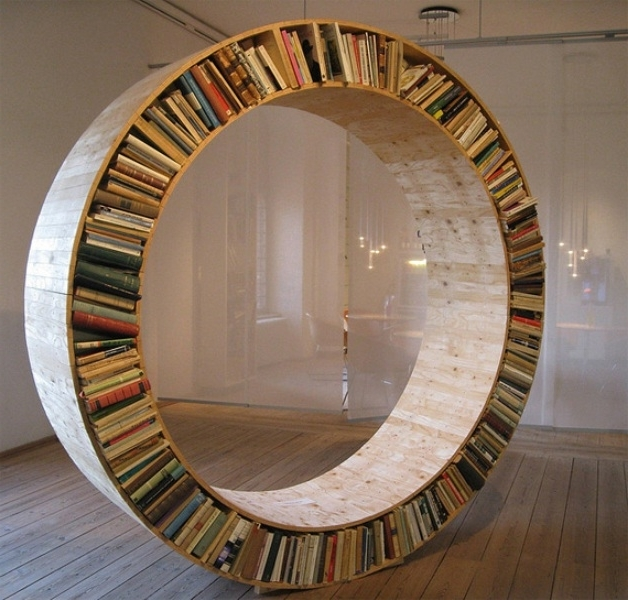 2017 Round Bookcases For Round Bookshelf – I Am Not Big On Reading Books, But This Would (View 1 of 15)