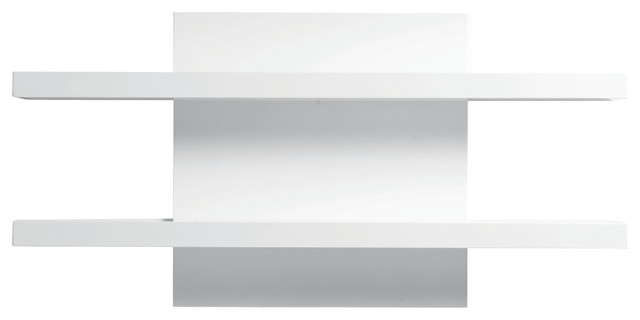 2018 43 White Shelf For Wall, White Shaker Corner Shelving Wooden Unit For White Wall Shelves (View 1 of 15)