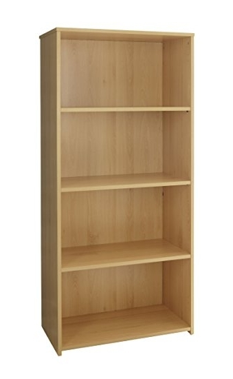 2018 Beech Bookcases With Regard To Classic Office Bookcases Tiered Shelving Storage Beech Or Oak (View 7 of 15)