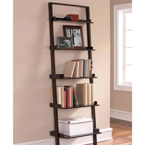 2018 Bookcases Pertaining To Mainstays Leaning Ladder 5 Shelf Bookcase, Set Of 2 Value Bundle (View 1 of 15)