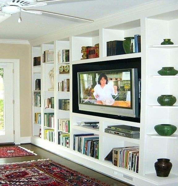 2018 Bookcases Tv Inside Bookshelf Tv Stand Combo Bookcases Wall Units Built In Bookcase (View 5 of 15)