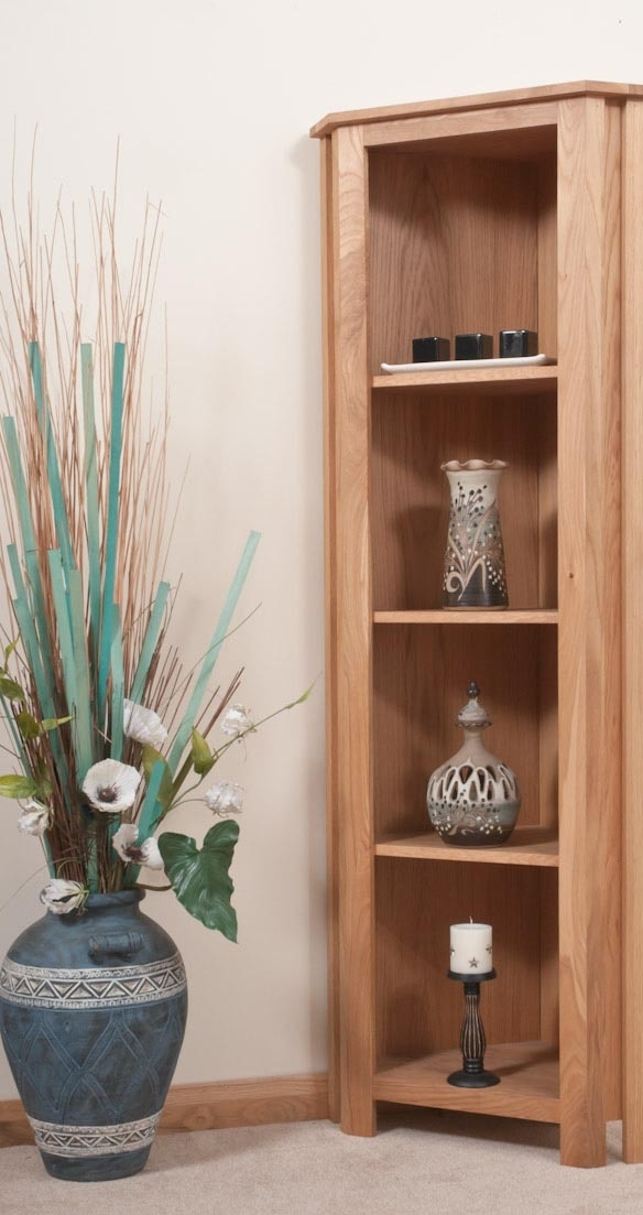 Featured Photo of Corner Oak Bookcases