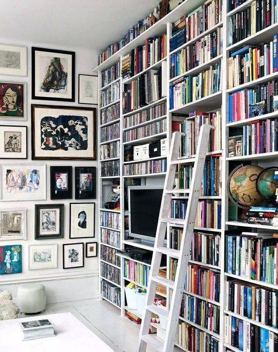2018 Home Library Wall Units Inside Library Wall Bookcase Large Size Of Library Wall Bookcase With (View 15 of 15)