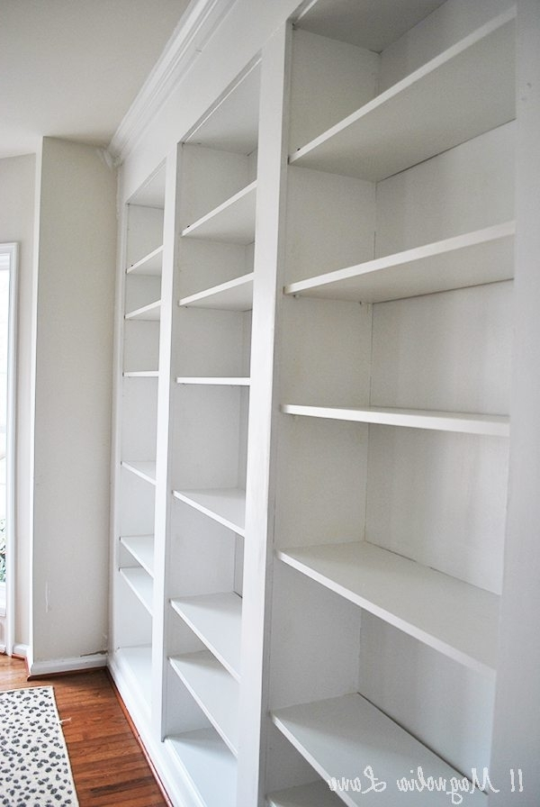 2018 How To Build Diy Built In Bookcases From Ikea Billy Bookshelves Regarding Built In Bookcases (View 2 of 15)