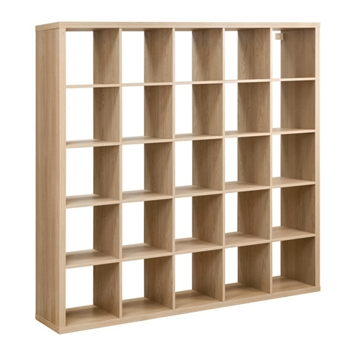 2018 Kallax Shelving Unit Oak Effect 182X182 Cm – Ikea Pertaining To Wooden Shelving Units (View 2 of 15)