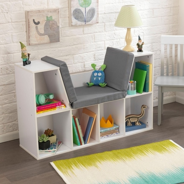 2018 Kidkraft Bookcases In Kidkraft White Bookcase With Reading Nook – Free Shipping Today (View 2 of 15)