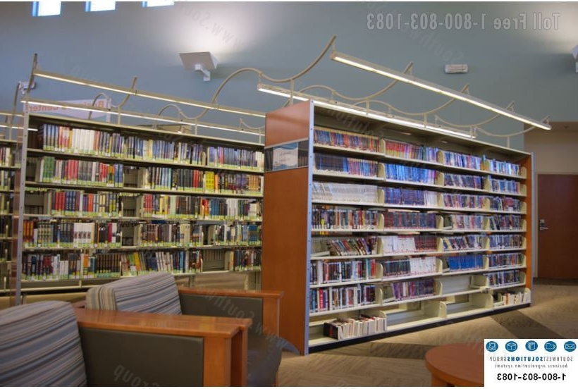 2018 Library Bookcases Lighting Pertaining To Library Stack Lighting (View 5 of 15)