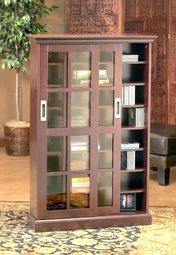 2018 Lockable Bookcases With Regard To Bookcases With Door Secret Bookcase Door With Dummy Books In (View 2 of 15)