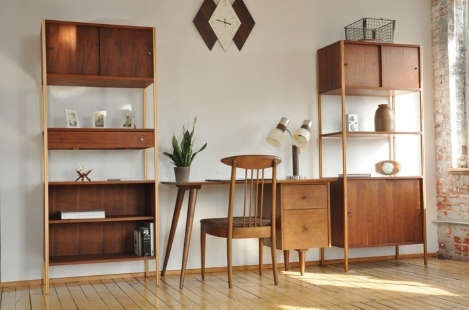 2018 Mid Century Bookcases Throughout Mid Century Bookshelves : Doherty House – Mid Century Bookcase (View 13 of 15)