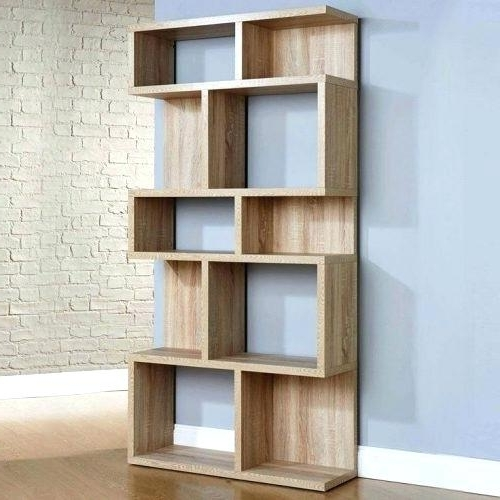 2018 Oak Veneer Bookcase Medium Size Of Modern Oak Shelf Unit Inside Contemporary Oak Bookcases (View 2 of 15)