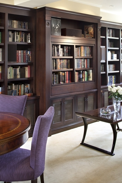 2018 Pivoting Tv Turning Into Bookcase – Traditional – Living Room With Regard To Tv Book Case (View 2 of 15)