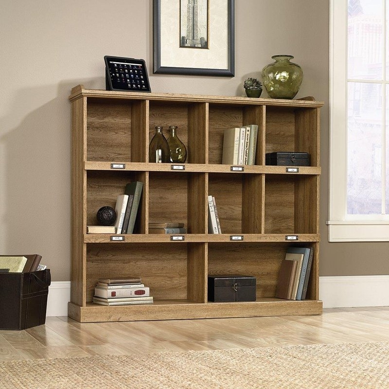 2018 Sauder Barrister Lane Bookcase – Scribed Oak (View 3 of 15)