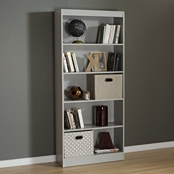 2018 South Shore 5 Shelf Bookcases Pertaining To Amazon: South Shore Axess 5 Shelf Bookcase, Soft Gray: Kitchen (View 1 of 15)