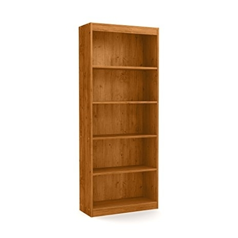 2018 South Shore Axess Collection 5 Shelf Bookcases Within Amazon: South Shore Axess 5 Shelf Bookcase, Country Pine (View 1 of 15)