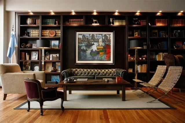 2018 Study Bookcases Pertaining To Bookshelf Lighting Bookshelf Ideas Living Room Amp Study Design (View 1 of 15)