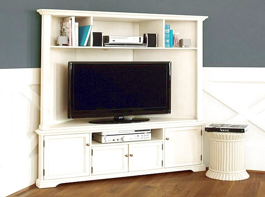 2018 Tall Corner Tv Unit Stunning White Corner Tv Stands For Flat Regarding Tv Corner Shelf Unit (View 2 of 15)