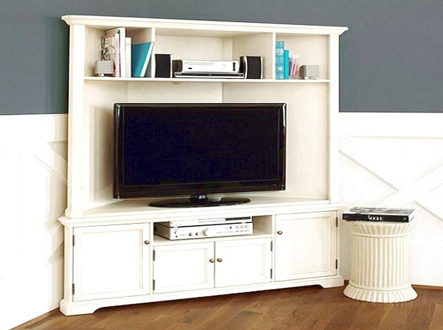 2018 Tall Corner Tv Unit Stunning White Corner Tv Stands For Flat Regarding Tv Corner Shelf Unit (View 7 of 15)