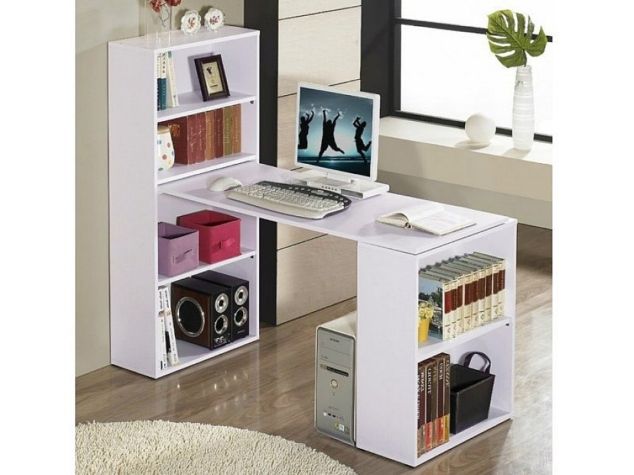 2018 Use This As A Guide For A Diy Desk Return Using My Ikea With Regard To Desk Bookcases (View 15 of 15)