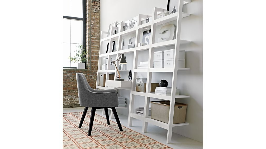 2018 Wall Shelves Design: Modern Learning Wall Desk With Shelves Throughout Desk With Matching Bookcases (View 1 of 15)