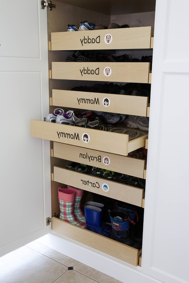 2018 Wardrobes Shoe Storages For 50 Best Shoe Storage Ideas – Interiorsherpa (View 14 of 15)