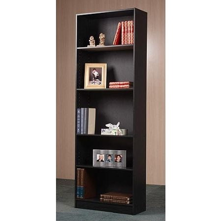 $28.22 Black Orion 5 Shelf Bookcase – Walmart (View 5 of 15)