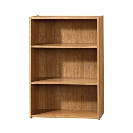 3 Shelf Bookcases For Most Recent Amazon: Sauder Beginnings 3 Shelf Bookcase, Highland Oak (View 3 of 15)