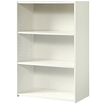 3 Shelf Bookcases Inside Well Known Amazon: Sauder Beginnings 3 Shelf Bookcase, Soft White (View 4 of 15)