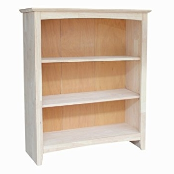 36 Inch Wide Bookcases With Regard To Well Liked Amazon: International Concepts Shaker Bookcase, 36 Inch (Gallery 15 of 15)