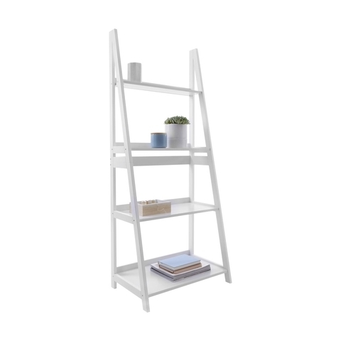 4 Tier Ladder Shelf White (Gallery 6 of 15)