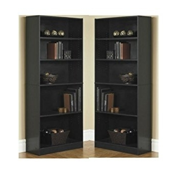 5 Shelf Bookcases Inside Most Recently Released Amazon: Orion Wide 5 Shelf Bookcase Black (Pack Of 2): Kitchen (View 2 of 15)