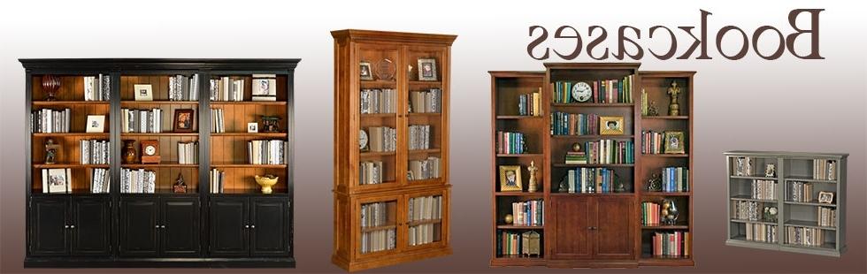 "59"" Wide Simple Real Wood Bookcases – Tall Double Bookcase Throughout 2017 Real Wood Bookcases (View 1 of 15)"