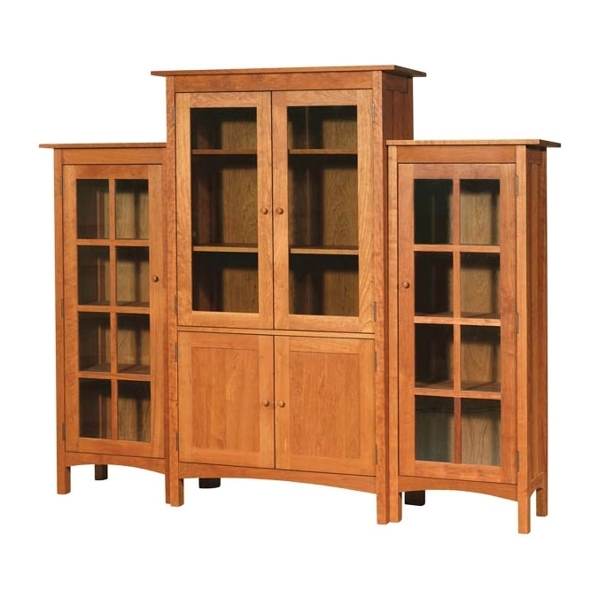 6 Large Glass Doors With Widely Used Large Solid Wood Bookcases (View 1 of 15)