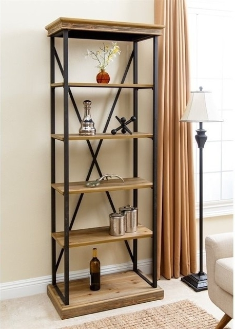 Abbyson Living – Abbyson Living Industrial 5 Shelf Bookcase Intended For Most Recent Industrial Bookcases (View 1 of 15)
