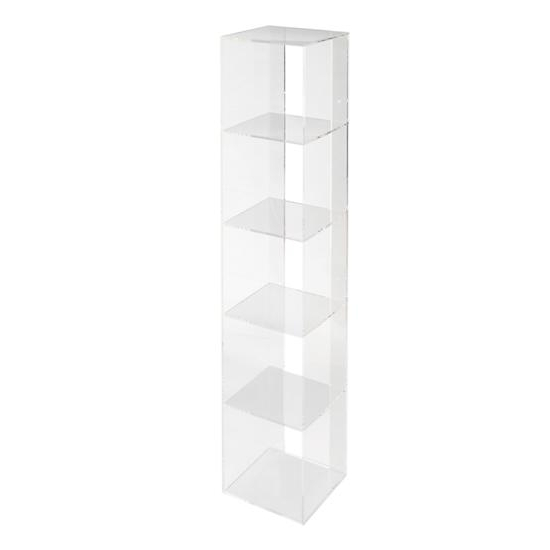 Acrylic Bookcases Within Well Liked Now You See It Acrylic Book Cart – Contemporary – Bookcases – (View 5 of 15)